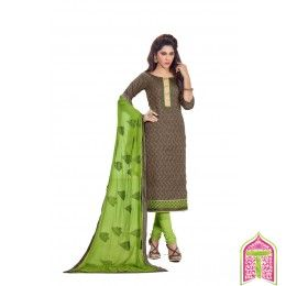 Unstitched Salwar Kameez Stepping fashion parrot green color Designer Salwar Suit