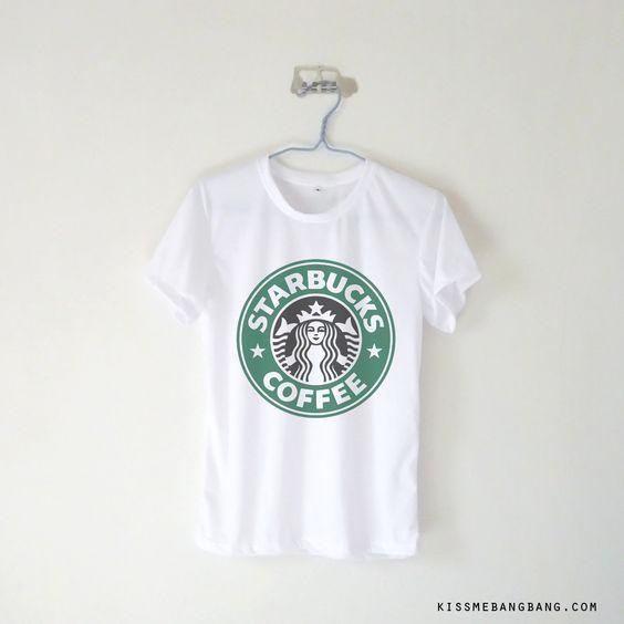 Starbucks Coffee T-shirt $12.99 ; Coffee Lover Shirt ; Hot & Black ; #Tumblr ; #Hipster Teen Fashion ; Shop More Tumblr Graphic Tees at http://kissmebangbang.com/product-category/tumblr-inspired/