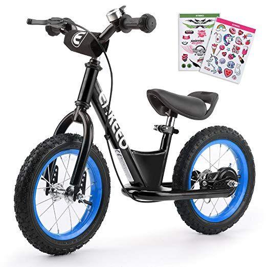 Enkeeo Premium Laufrad 12 Zoll 14 Zoll Kinderlaufrad Lernlaufrad