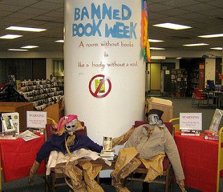 Banned Books Week display at Columbia Pike | by Arlington Public Library