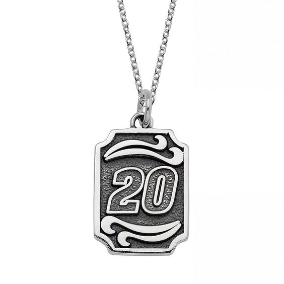 "Insignia Collection Nascar Matt Kenseth Stainless Steel ""20"" Pendant, Women's, Size: 18"", Grey"