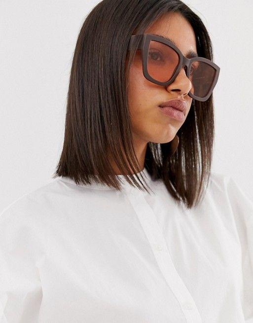 Большие солнцезащитные очки в квадратной оправе в стиле 70-х ASOS DESIGN | ASOS
