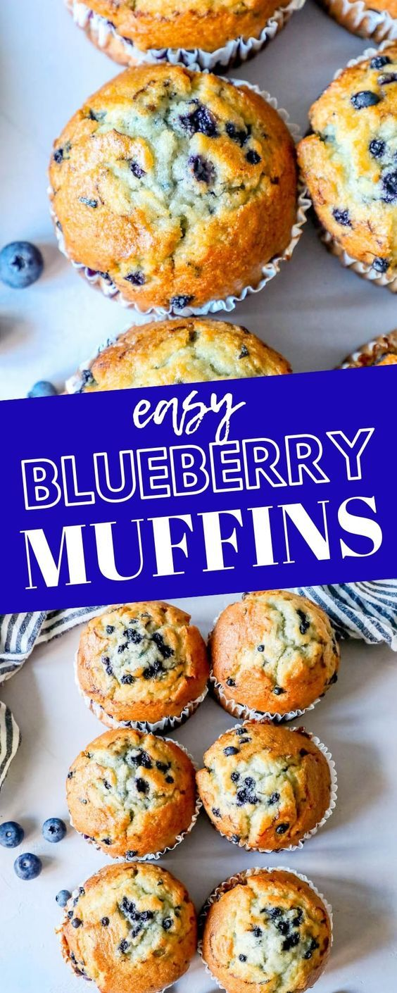 The Most Amazing Homemade Blueberry Muffins
