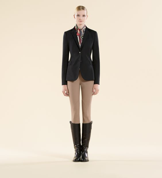 Gucci black show coat