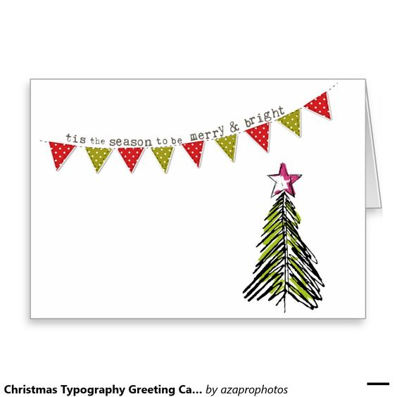 Christmas Typography Greeting Cards