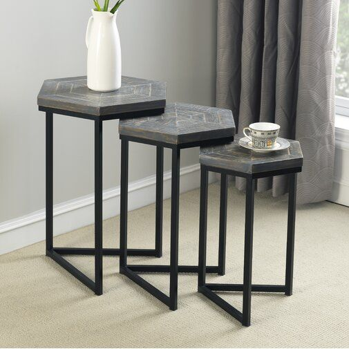 Maryellen 3 Piece Nesting Tables Nesting Tables End Table Sets