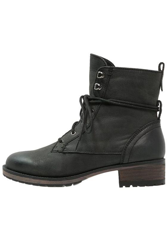 SPM IYAM Schnürstiefelette black Schuhe bei Zalando.de | Obermaterial: Leder, Innenmaterial: Textilfutter, Sohle: Kunststoff, Decksohle: Lederimitat | Schuhe jetzt versandkostenfrei bei Zalando.de bestellen!