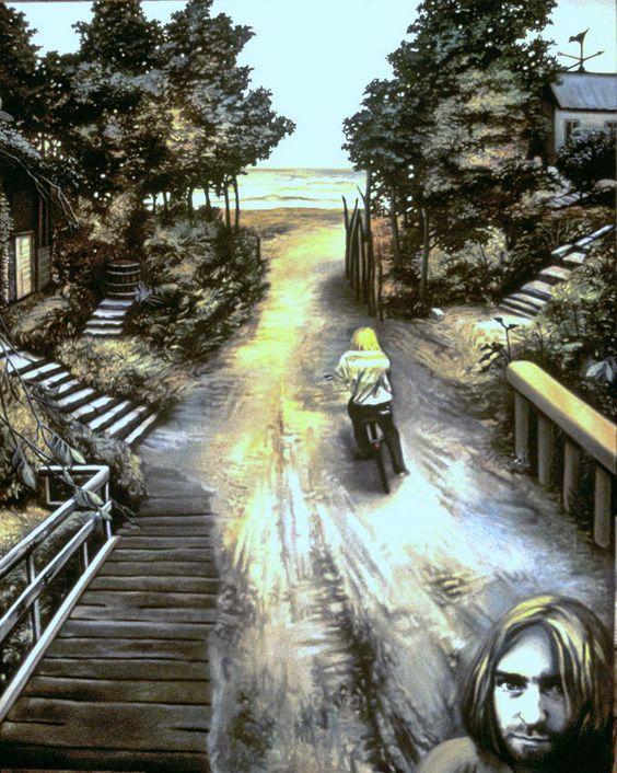 NADA ACKEL. BAL TRAGIQUE À SEATTLE, 1995. Huile sur toile (oil on canvas), 130x163 cm.