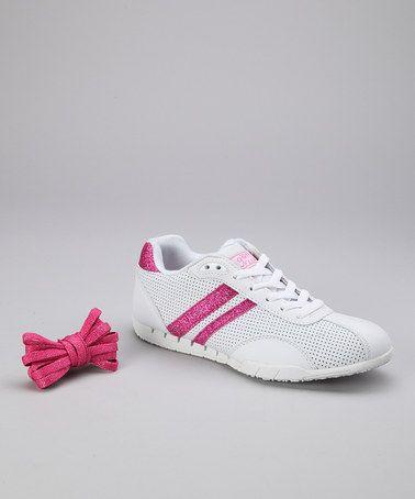 Take a look at this White & Pink Sazuka Sneaker - Women by Gotta Flurt on #zulily today!