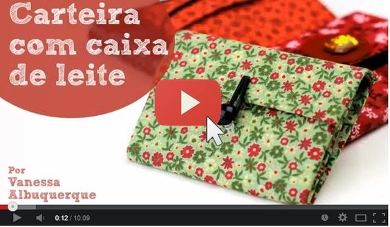 Vídeo => Carteira com Caixa de Leite ~ Artesanato na Pratica