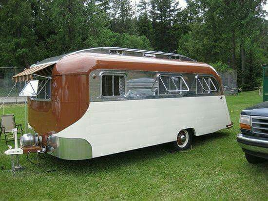 Trolley Top Trailer Vintage Camper Vintage Travel Trailers
