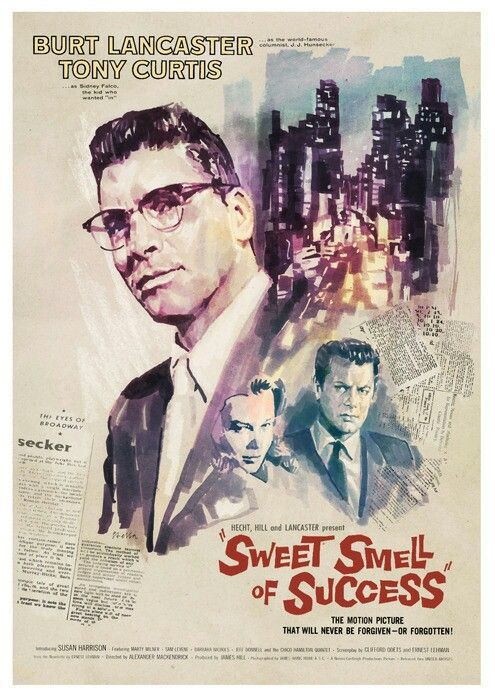 Sweet Smell Of Success 1957 Old Movie Posters Movies By Genre