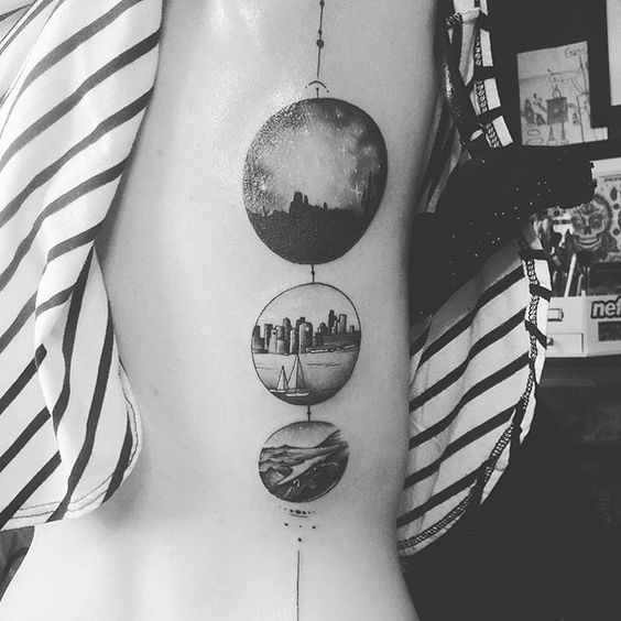 A friend tattooed this awesome custom piece on me of three places that made me who I am today. Tucson AZ, Seattle WA, and Las Vegas NV.