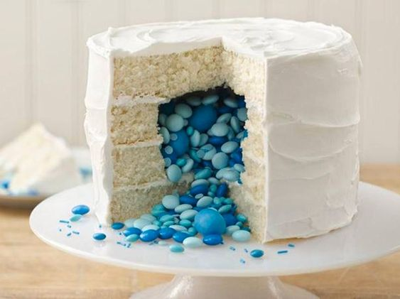 Gender Reveal Cake idea from Betty Crocker