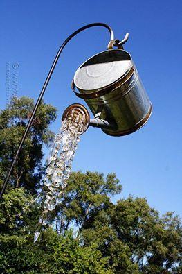 Crystals watering can Garden Idea
