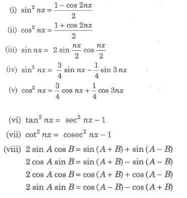 Cbse Notes Class 12 Maths Indefinite Integrals In 2020 With