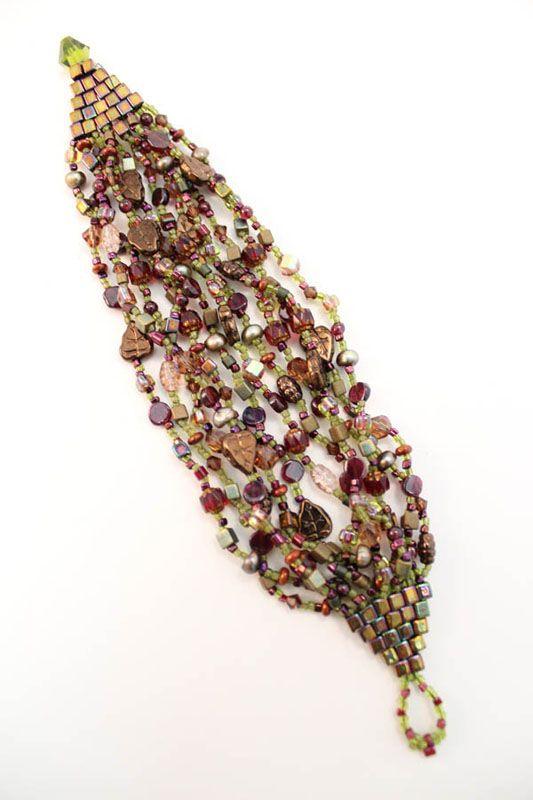 brick stitch multi-strand bracelet:
