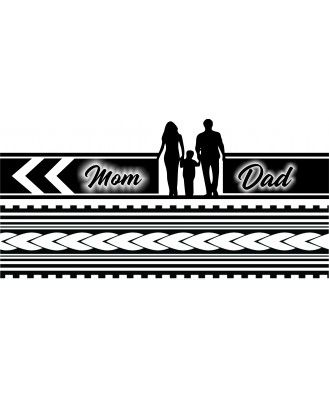 Voorkoms Mom Dad Hand Tribal Hand Band 02 Temporary Tattoo Two Design In Combo Mom Dad Tattoos Mom Dad Tattoo Designs Mom Tattoo Designs