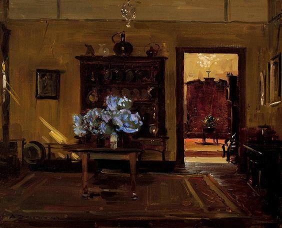 Interior, Olinda, 1940, Arthur Streeton
