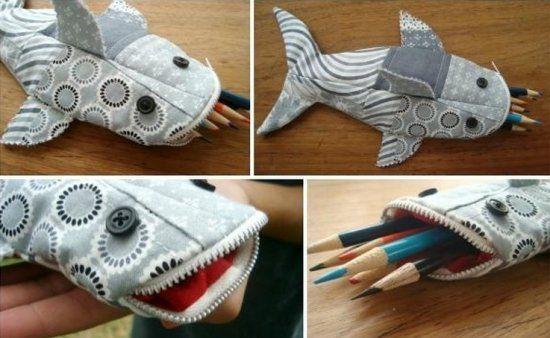Пенал для ручек Акула