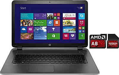 HP 17-f262ng Notebook, AMD Quad Core A8, 43,9 cm (17,3 Zoll), 1000 GB Speicher, 8192 MB DDR3L-SDRAM
