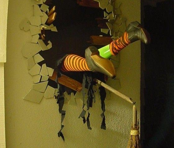 Pinterest Halloween Wall Decor : Spooky diy witch halloween decor crash site wall