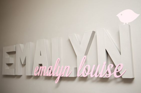 Baby name wall decor - #nursery: Nursery Idea, Baby Name Signs, Baby Fever, Baby Names On The Wall, Baby Name Decor, Baby Ideas, Baby Name Wall Decor, Baby Girl Names On Wall, Baby Name Room Decor