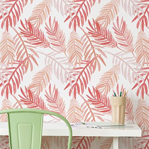 Flipside Pink And Peach Palm Leaves Removable Pre Pasted Https Www Amazon Com Dp B07kcpdy9d Ref Cm Sw R P Prepasted Wallpaper Wallpaper Pattern Wallpaper