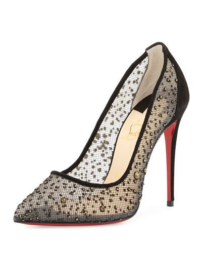 christian louboutin bow-embellished pumps
