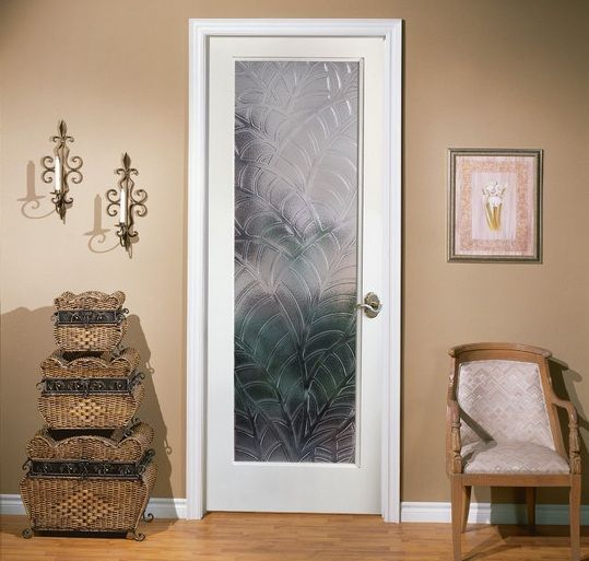 Door With Decorative Frosted Gl