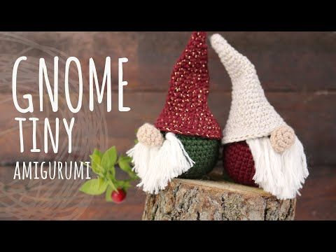 Tutorial Tiny Christmas Gnome Amigurumi Crochet Lanas Y Ovillos In English Youtube Gnome Patterns Christmas Crochet Nordic Gnomes