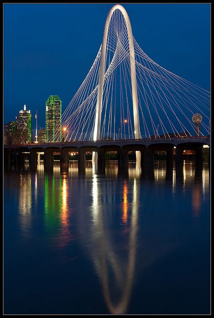 Margaret Hunt-Hill Bridge  Dallas, Texas - saw this from the DART station, but couldn't tell what it was.
