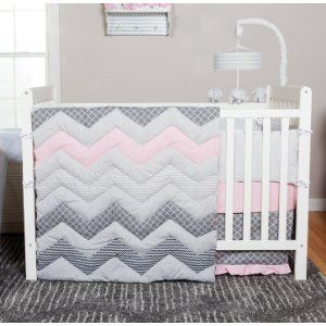Trend Lab Chevron Cotton Candy Crib Bedding Collection