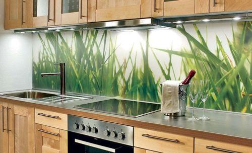 Attraktive Wohnideen, wie man eine Küchenrückwand einbauen kann - küchenspiegel mit fototapete