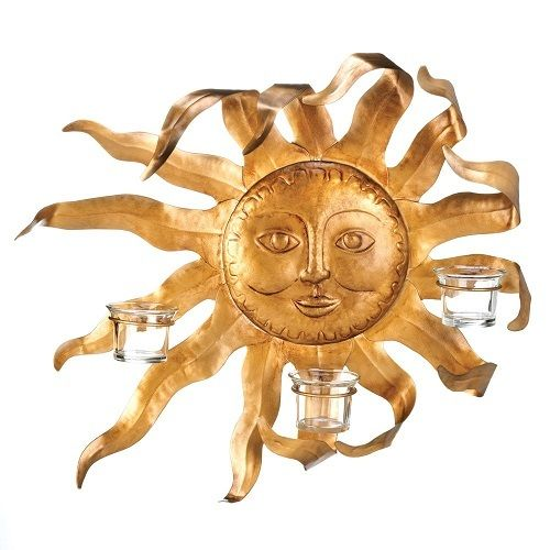 Smiling Sun Candle Sconce. Starting at $32