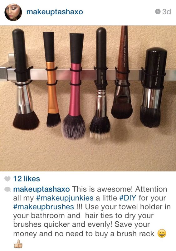 Awesome tip for makeup brushes