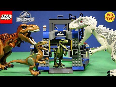 New Lego Jurassic World Raptor Escape Set Vs Indominus Rex Speed Build Unboxing 75920 Youtube Lego Jurassic World Jurassic Park Toys Lego Jurassic