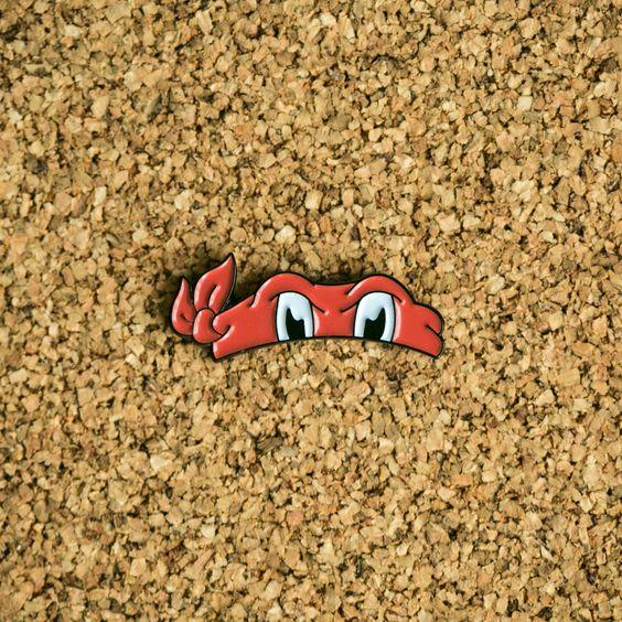 Red Bandana Pin