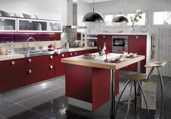 Cuisine tandem bordeaux mat envie de rouge profitez de for Envie de meuble