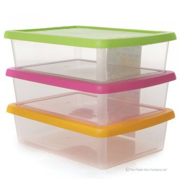 Wham a3 paper plastic storage box with lid deep for Plastic craft boxes with lids