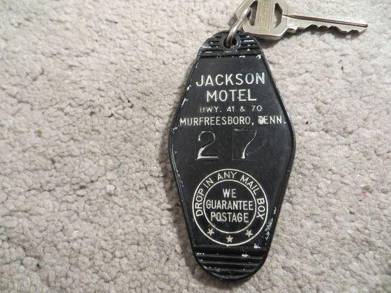 Jackson Motel Murfreesboro TN Hotel key and fob Room 27