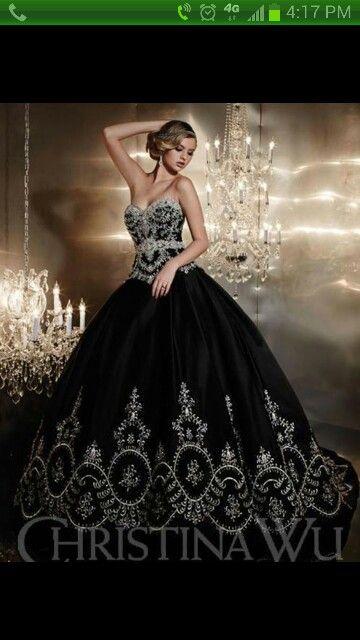 Black classy wedding dresses
