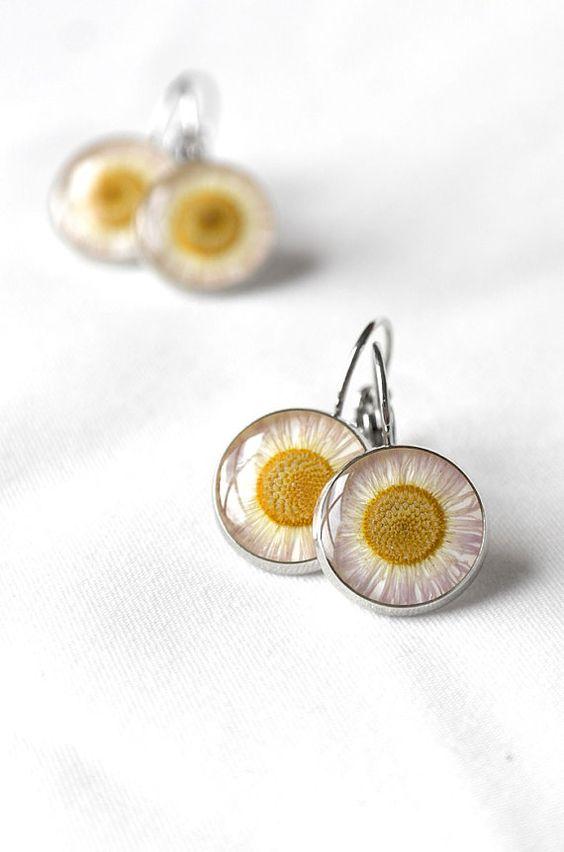 Daisy jewelry Boho chic oorbellen bloem verjaardagsgift voor haar beste vriend zon oorbellen vrouw geschenken moeder