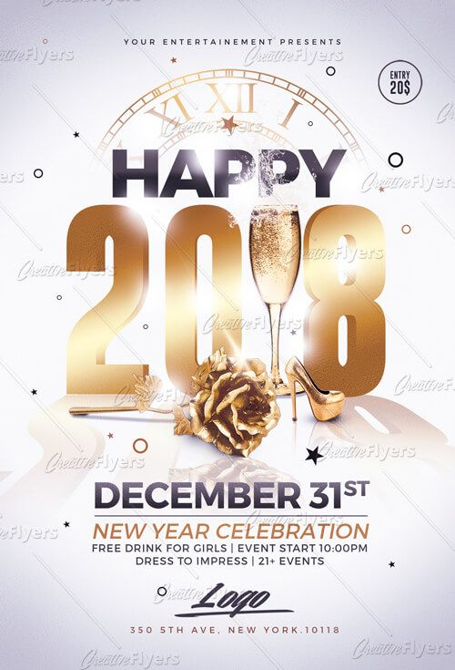 New Year Flyer Psd Templates Download Creative Flyers Photoshop Template Design Flyer Template Poster Template Design