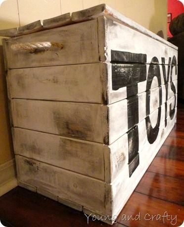 Toy chest pallets and toys on pinterest for Toy pallets