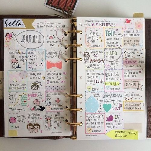 Monthly calendars, Filofax and Calendar on Pinterest