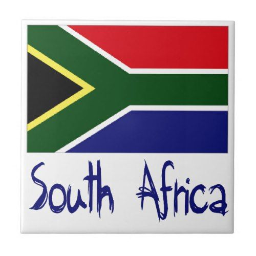 South Africa Tile Zazzle Com South Africa Flag South Africa Art Africa Flag