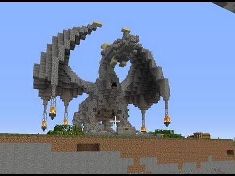 Minecraft 100% Survival: Building an Epic Dragon Statue