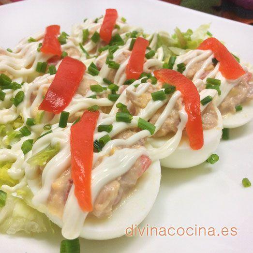 Huevos rellenos » Divina CocinaRecetas fáciles, cocina andaluza y del mundo. » Divina Cocina