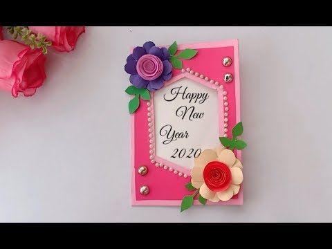 Very Easy Beautiful Handmade Happy New Year Card 2020 Card Idea Diy Greeting Ca New Year Cards Handmade Greeting Cards Handmade Birthday Handmade Bday Cards